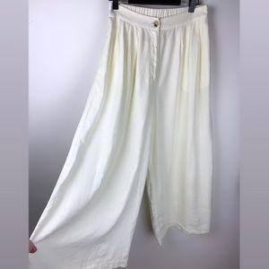 Sportsgirl 10 light yellow wide leg culottes pants